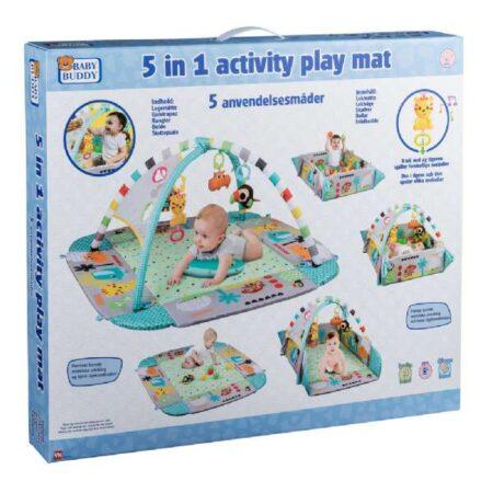 5 i1 aktivitets legemåtte - Baby Buddy legetæppe 551719