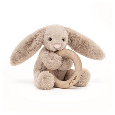 Bashful beige Kanin rangle med træring fra Jellycat