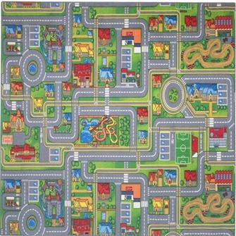 Bil Legetæppe Play City 95X200Cm