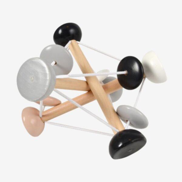 Magni aktivitetslegetøj - Elastik Rangle - Sort/Hvid
