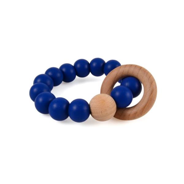 Magni rangle i silikone og træ, blå