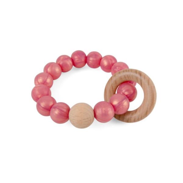 Magni rangle i silikone og træ, rosa