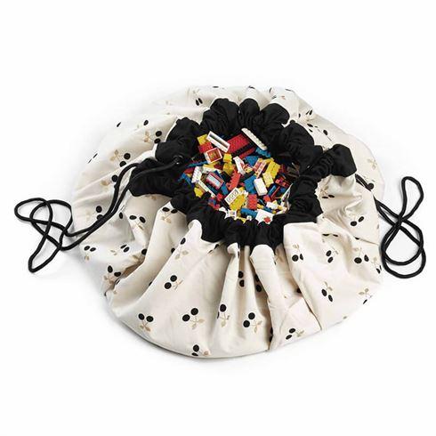 Play & Go Opbevaringspose og legetæppe - Cherry Gold