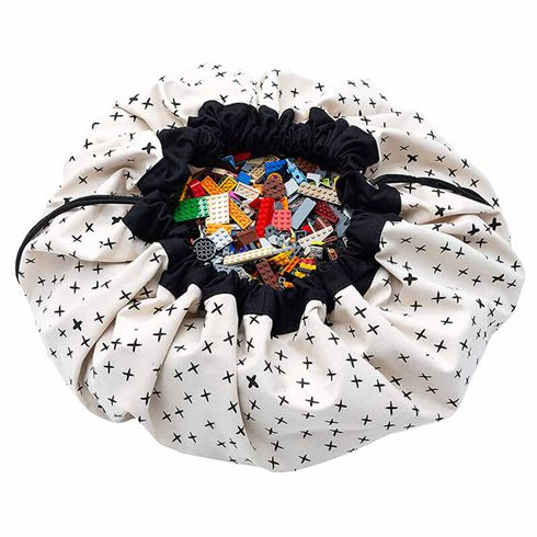 Play & Go Opbevaringspose og legetæppe - Crosses