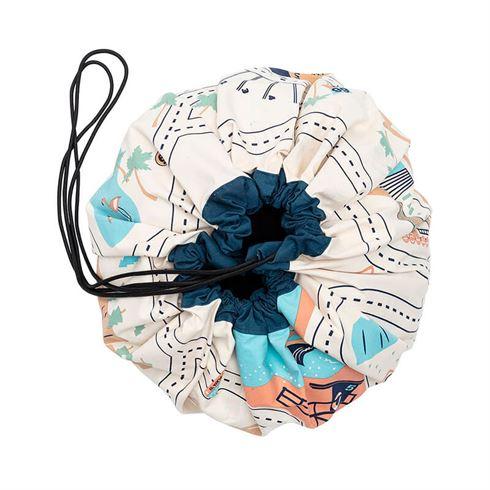 Play & Go Opbevaringspose og legetæppe - LA Roadmap