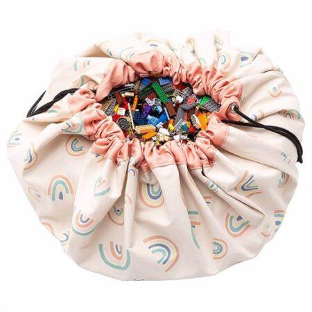 Play & Go Opbevaringspose og legetæppe - Rainbow