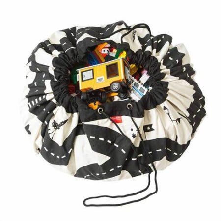 Play & Go Opbevaringspose og legetæppe - Roadmap