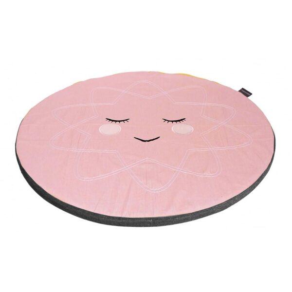 Roommate Hello sunshine legetæppe / pude til sansegynge - rosa