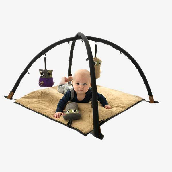 Sleepbag.play legetæppe - sort-brun