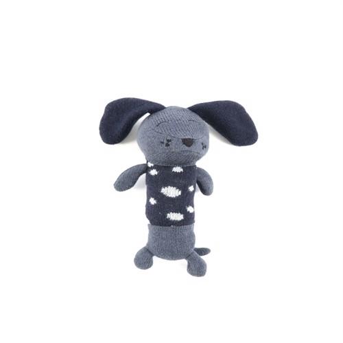 Smallstuff, Maracas Crochet Rangle, dalmatiner, blå