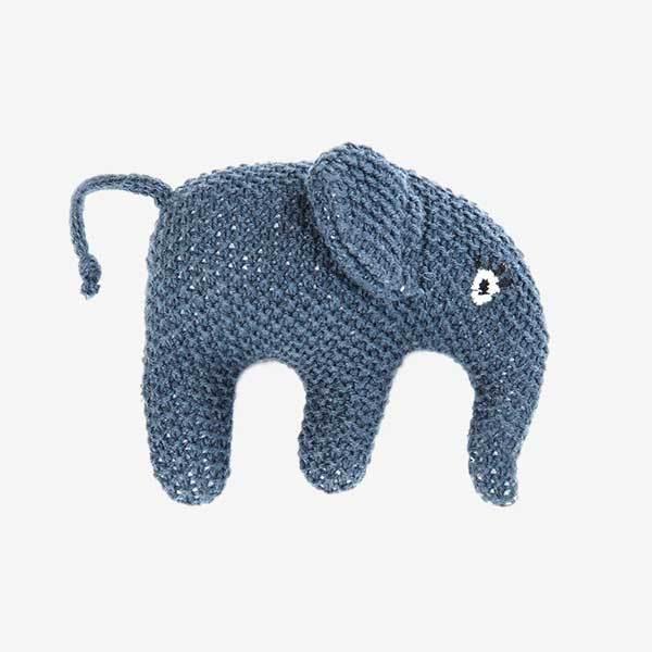 Smallstuff aktivitetslegetøj - Rangle elefant - blå