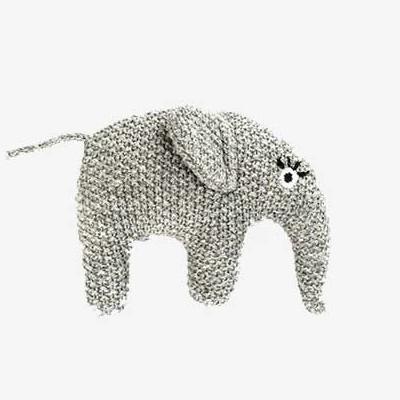Smallstuff aktivitetslegetøj - Rangle elefant - grå