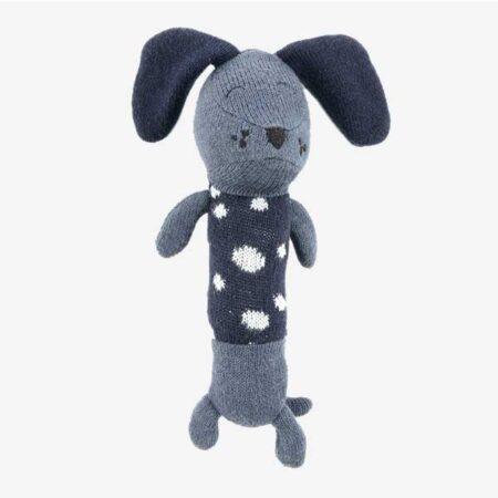 Smallstuff aktivitetslegetøj - Rangle hund - blå