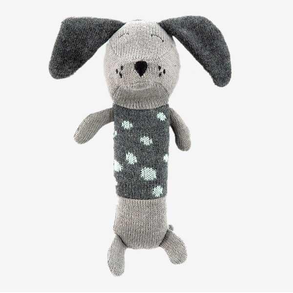 Smallstuff aktivitetslegetøj - Rangle hund - grå