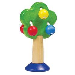 Babylegetøj, Rangle i træ - Træ i flotte farver - GoGo Toys